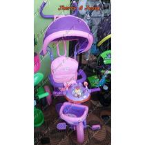 Triciclo Infantil Com Cobertura,proteçao Banco,musical,luzes