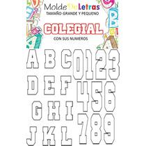 Moldes De Letras Para Actividades Escolares Y Manualidades
