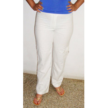 Pantalon De Lino Blanco Dama