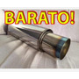 Muffler Resonador Tubo Escape Spec-d Tuning Nuevo Muffler
