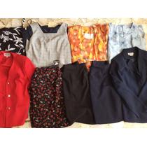 Lote De Ropa Para Señora 45 Piezas Conjuntos Sacos Vestidos