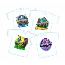 Playera Jurassic World Personalizada Fiesta Infantil