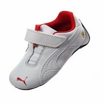 Baby Tenis Puma Drif Cat 6 Ferrari White & Red Bebe Cuna Gym