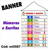 Banner Pedagógico Matemática Números E Escritas Will587
