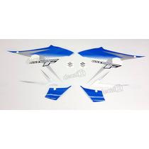 Kit Faixa Emblema Adesivo Suzuki Gsx 650f 2012 Azul E Prata