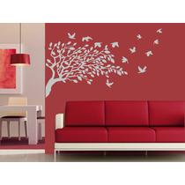 Vinilo Pared Rama Con Pájaros Nuevo Decoración Wall Stickers