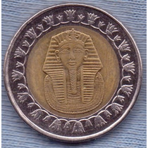 Egipto 1 Pound 2007 * Bimetalica * Tutankamon *