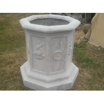 Aljibe Octogonal De Cemento, Arte Decorativo Benitez