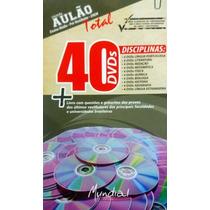 Aulão Total 40 Dvds Ensino Médio/pré Vestibulares/concursos