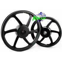 Roda Liga Leve Moto Yamaha Ybr 125 00/08 Tambor 6 Pontas