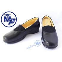 Zapatos Piel Diabetico Artritis Juanete Dama 6150 Negro