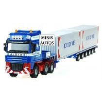 Miniatura Caminhão Carreta Container Kaidiwei Escala 1/55