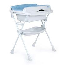 Banheira C/ Trocador E Assento Redutor Azul Burigotto 40919