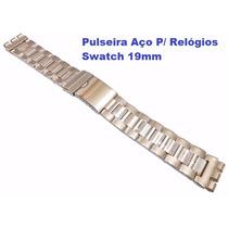 Pulseira Aço P/ Relógios Swatch 19mm Irony