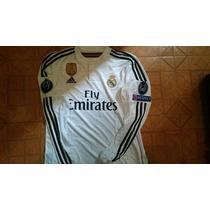 Jersey Adidas Real Madrid 2015 Local Manga Larga Champions