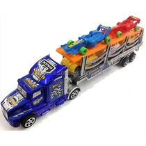 Camion Gandola Plastico Con 5 Carritos Niños Juguete