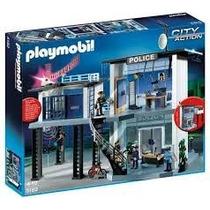 Playmobil 5182 Comisaría Con Sistema De Alarma Original!