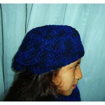 Hermosa Boina Tejido A Crochet Ideal Para Invierno..!