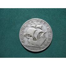 Moneda 5 Escudos 1933, Portugal Km# 581, De Plata