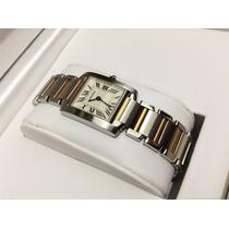 Cartier Tank Frances Acero Oro Dama Impecable Y Bello 9cito