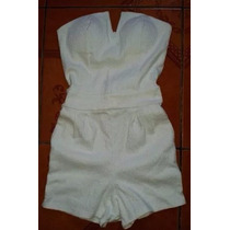 Enterizo Strapless Short Strech Formal Casual T= M/l Verano