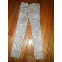 Calzas Elastizadas Blancas Con Dorado Talle 12/14 Años