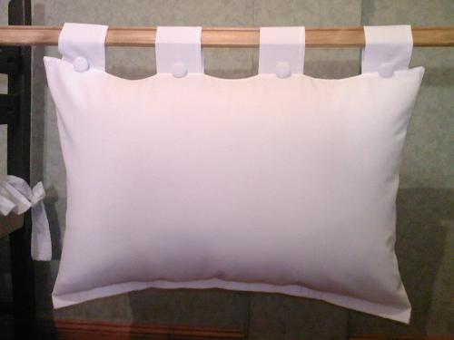 almohadones para respaldo de cama en teladirecto de fabrica