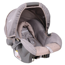404l - Bebê Conforto Cosycot Lisboa Cinza E Bege Lenox Kiddo
