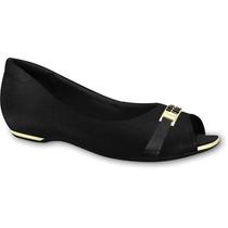 Sapato Feminino Flats Couro Comfortflex Calçados Bola 7