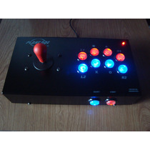 Joystick Arcade Mame Playcade Arcoiris Usb Nite Pc Y Ps3