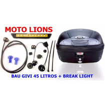Bau Bauleto Givi 45 Litros E-450n + Break Light Moto Lions
