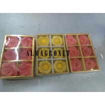 Velas Flotantes Flores Rosas X 6u Caja Regalo Almagro