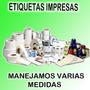 Etiquetas Impresas Con Datos Codigo De Barras Y Logotipo