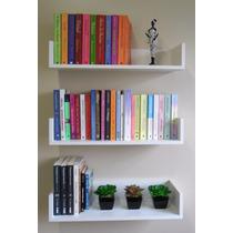 Prateleira Decorativa P/ Livros Em U 60 L X 11,5 A X 20 P