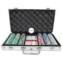 Juego De Poker De 300 Pzas + Maletín Fichero Y Fichas Poker