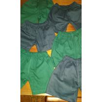 Pantalon Shorts Colegiales Azul Y Verde Escolar