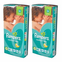 Oferta! Pañales Pampers Confort Sec X 46u Talle G 12 Horas !