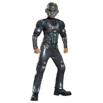 Disfraz Halo Spartan Locked Niño Master Traje Con Musculos