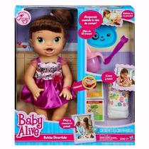 Boneca Baby Alive Hora De Comer Morena Hasbro A8346