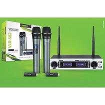 Microfone Vokal Vlr-502 C/ Bateria De Lithium Recarregável
