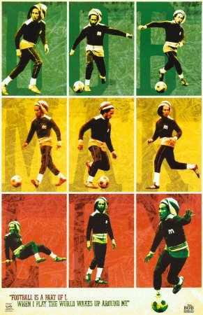Poster Importado De Bob Marley Futbol 60 X 90 Cm 324 99 En