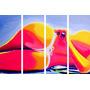 Cuadro Pop Art Moderno Silueta Mujer Sensual No Desnudos