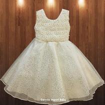 Vestido Infantil Festa Luxo Ano Novo Daminha Princesa