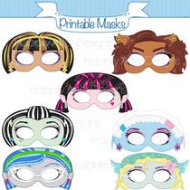 50 Mascaras Antifaces Monsters High Draculaura Frankie