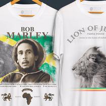 Camisetas Camisas - Bob Marley - Reggae - Leão Judah - Rasta