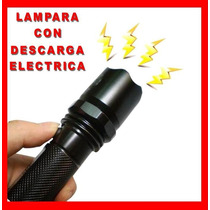 Lampara Tactica Led Con Descarga Electroshock Toques