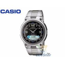 Relógio Casio Aw-82d-1avdf Fishing Gear Garantia 1 Ano Aço