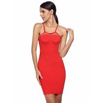 Vestidos Otoño 2016 Rojo Moda Sexy Antro Fiesta Coctel
