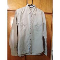 Camisa Kaki Zara Talla M