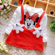 0 A 2 Anos Minnie Mouse Roupas De Bebê Vestido Importado